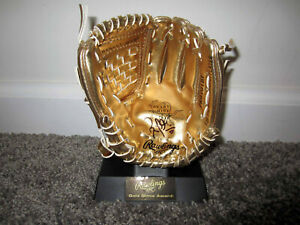 RUSSELL MARTIN Los Angeles Dodgers SIGNED Mini Gold Glove Winner Award w/ COA