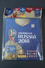 album rigide panini fifa world cup russia 2018 neuf + 3 paquets de stickers
