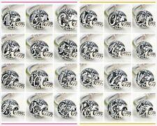925 Silver Bead Charm 26 Letters Initial Character Alphabet fo Pandora Bracelet