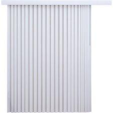 Vertical Blinds Light Filtering Wide Window Patio Sliding Doors Decor Kit White