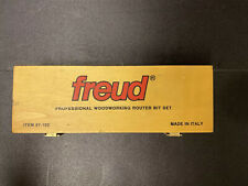 Freud Professional woodworking router bit set item 97-102 made in Italy