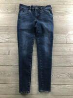 American Eagle Hi-Rise Jegging Dark Wash Jeans size 6 Regular Next Level Stretch