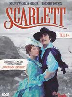 """SCARLETT ( Die Fortsetzung von """" Vom Winde verweht """" ) - 2 DVD - TEIL 1-4"""