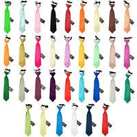 Cravate Pour Les Garçons Satin Mariage Elastique 2-7 Ans Multicolore Marque DQT