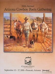 2011 Arizona Cowboy Poets Gathering (ACPG) poster, signed by the artist