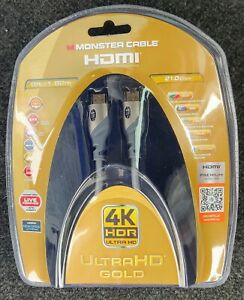 Monster Cable HDMI 4K HDR Ultra HD Gold 60Hz 21 Gb Ethernet 6' Premium RM186354