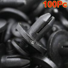 100 X 6mm Car Plastic Rivets Hole Dia Fastener Fender Bumper Push Pin Clips Clip