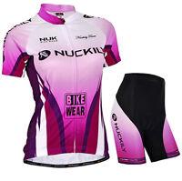 Cycling Bike Short Sleeve Clothing Set Bicycle Women Wear Suit Jersey Short S-XL
