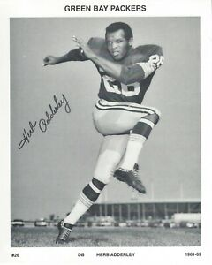 Herb Adderley Green Bay Packers Black and White Photo Football Hall of Fame