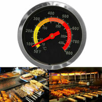 BBQ Smoker Grill Stainless Steel Thermometer Temperature 50-400℃ Gauge L4D0