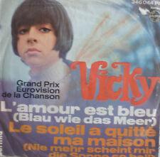 "7"" 1967 GRAND PRIX ( LUXEMBURGH ) RARE VG+ ! VICKY LEANDROS : L´Amour est bleu"