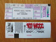 Unused Ozzy Osbourne June 19, 1996 Meadows Music Theatre Concert Ticket Sabbath