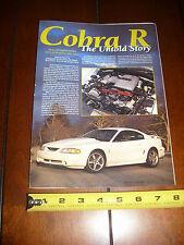 1995 FORD MUSTANG COBRA R - ORIGINAL 1995 ARTICLE