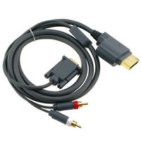 Top Xbox 360 Microsoft Xbox 360 Composite AV VGA RCA Cable Stereo Audio /Video