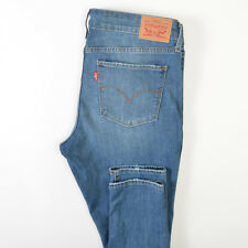 Levis 711 Skinny Jeans Blue Mid Rise Cotton Stretch Womens 31