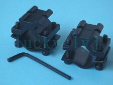 2x Adjustable Tube Barrel Ring Scope Mount Base with 20mm Picatinny/Weaver Rail