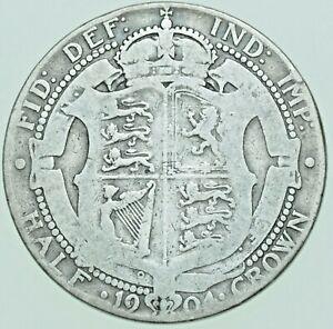 SCARCE 1904 EDWARD VII HALFCROWN, BRITISH SILVER COIN FINE