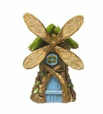 Fairy Garden Windmill Tree House, Tree Ring Windmill Blades, Table Centerpiece
