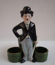 Mustard pot Salt Pepper Figurine Charlie Chaplin Art Deco Style Art Nouveau Styl