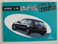 Prospetto HONDA CIVIC 1.3 College/1.5i City Edition, 3.1993, 10 pagine, Folder