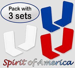 Acrimet Spirit of America Bookend Premium (3 Pairs Pack)- (Deep Blue/White/Red).
