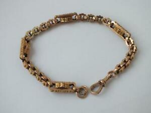 Antique 9 ct. Rose Gold Fancy Box Link Bracelet c. 1910 L 19.2 cm / 14.2 g.