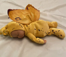 2008 Anne Geddes Sleeping Baby Butterfly Plush Doll Bean Filled