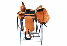 "16"" CUSTOM HANDMADE STUNNING WESTERN TRAIL HORSE TACK LEATHER SADDLEBAG SADDLE"