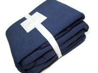Pottery Barn Kids Dark Blue Cotton Jersey Cotton Queen Sheet Set New