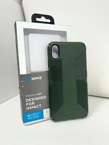 Speck Presidio GRIP Case for Apple iPhone XS MAX 6.5 - Dusty Hunter Green Black