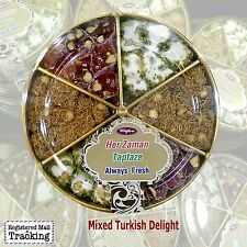 MIXED TURKISH DELIGHT - LOKUM - 295 gr / 10,40 oz BEST QUALTY, FRESH AND NEW