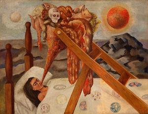 Frida Kahlo Without hope canvas print giclee 8X12&12X17