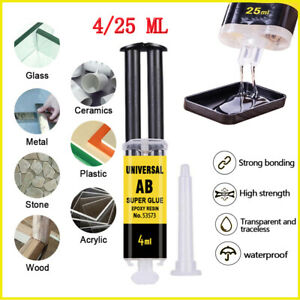 25ml Epoxy Resin AB Glue Strong Adhesive Quick Repair For Glass Ceramics Plastic