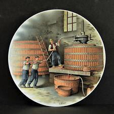 LIMOGES PORCELAIN (FRANCE) ARTIST A. LENOIR WINEMAKING PLATES