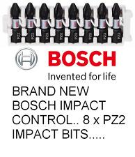 Brand New Bosch Impact Control Screwdriver Impact Bit PZ2 Pk 8