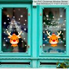 1 Pc Merry Christmas Pvc Window Sticker Cute Dew Deer Winter Home Decoration