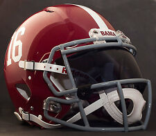 *CUSTOM* ALABAMA CRIMSON TIDE NCAA Riddell Speed AUTHENTIC Football Helmet