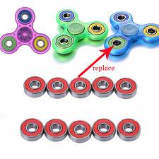 3PC/Set Fidget Hand Spinner Roller Hocker Wheel Steel ABEC-7 608RS Gyro Bearings