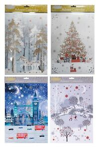 Glick Pizazz Advent Calendars 24 x 35 cm Glitter varnish and foil with envelope
