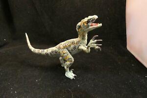 "Green Plastic Velociraptor Figure 3.75"""