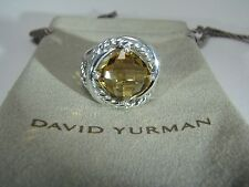 AUTHENTIC DAVID YURMAN 11MM STERLING SIVER INFINITY CITRINE  RING SIZE 6 DY POUC