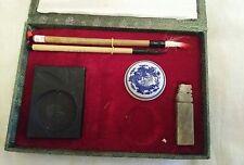CHINESE CALLIGRAPHY SET  Brushes, Mixing Stone BOX SET