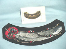 HOG HARLEY DAVIDSON OWNERS GROUP PATCH AND PIN 2005 FEATHER