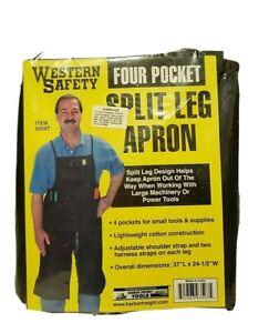 Western Safety Black Four Pocket Split Leg Apron For Tools & Supplies