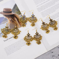 Vintage Retro Drop Gold Hook Tassel Beads Ethnic Earrings Women Indian Jewellery