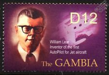 William Lear AUTOPILOT Jet Aircraft / History of Aviation Stamp (2003 Gambia)