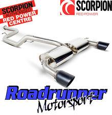 Sfds 069C scorpion focus st 225 turbo exhaust cat back non res black tails
