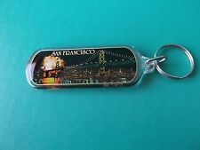 "HARD PLASTIC ""SAN FRANCISCO AT NIGHT"" FIREWORKS KEY CHAIN    1990'S"