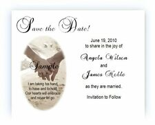 100 Personalized Custom Beach Wedding Bridal Save The Date Cards
