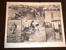 Sul Lago Maggiore nel 1898 Le Lavandaie Composizione di Arnaldo Ferraguti